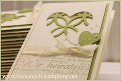 Stampin`Up! Hearts a Flutter, Lattice, Wedding, Einladungskarten