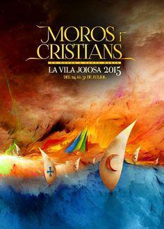 Cartel Fiestas Moros y Cristianos Villajoyosa 2015