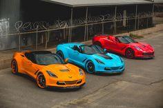 Which colour today - Blue, Red or Orange - Forgiato Widebody C7 Corvette Stingrays