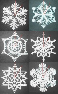 GREAT tutorial on making 6-pointed snowflakes
