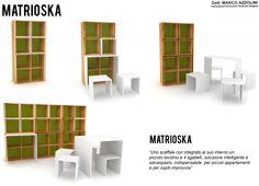 """""""Uno scaffale con integrato al suo interno un piccolo tavolino e 4 sgabelli, soluzione intelligente e salvaspazio, indispensabile  per piccoli appartamenti e per ospiti improvvisi"""""""