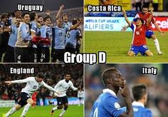 Group D has the most history at the 2014 World Cup with Italy, Uruguay and England having won a total of seven World Cups between them. It is also one of the most unpredictable groups. Italy won World Cup in 2006 but failed to make it out of their group in 2010. Are Uruguay as good as their semifinal run in South Africa or are they closer to the team that need a playoff win versus Jordan just to qualify? Will England fail again? Stars aplenty with Balotelli, Suarez and Rooney. #WorldCup…