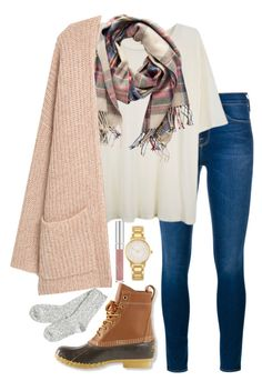 """""""November and 80 degrees outside"""" by valerienwashington ❤ liked on Polyvore featuring Frame Denim, R13, Pieces, MANGO, L.L.Bean, Kate Spade and TNA"""