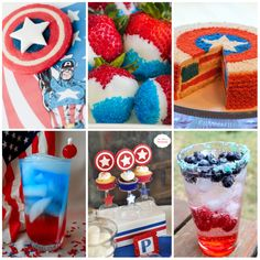Captain America 4th of July Party Planning Guide - the food