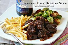 Slowly simmered in dark ale until the beef chunks are tender gives this stew such a delicious and robust flavor.
