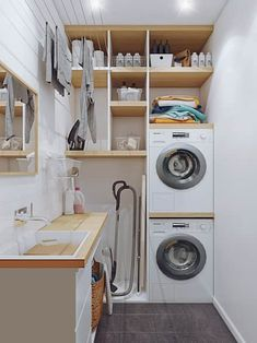 perfect laundry room designs ideas for small space 44 ~ mantulgan.me perfect laundry room designs ideas for small space 44 ~ mantulgan.me - Own Kitchen Pantry Outdoor Laundry Rooms, Modern Laundry Rooms, Laundry Room Layouts, Laundry Room Remodel, Basement Laundry, Laundry Room Organization, Laundry Room Inspiration, Laundry Room Design, Küchen Design