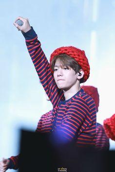 Baekhyun - 150530 Exoplanet - The EXO'luXion in Shanghai Credit: No Money. Exo Ot12, Kaisoo, Kyungsoo, Exo Concert, Exo Luxion, Puppy Face, Exo K, Asian Men, Korean Singer