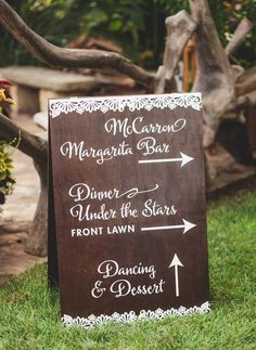 Featured Photographer: SMS Photography; Wedding reception sign idea.