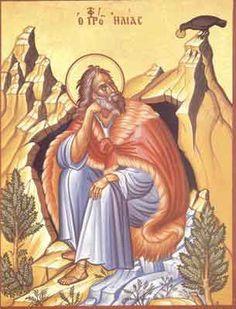 The Prophet Elias Orthodox Catholic, Orthodox Christianity, Religious Icons, Religious Art, Day Of Pentecost, Byzantine Icons, Old Testament, Art Icon, Orthodox Icons