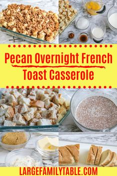 Pecan overnight french toast casserole is a delicious way to use stale french bread to prep breakfast for the next day. Enjoy your coffee while it bakes! Gluten Free French Toast, Make Ahead French Toast, Crockpot French Toast, Best French Toast, Pumpkin French Toast, French Toast Bake, Challah French Toast Casserole, Blueberry French Toast Casserole, Overnight French Toast Casserole