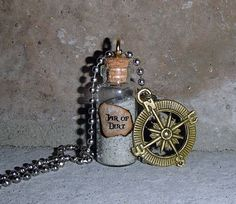 Pirates of the Caribbean Jar of Dirt Necklace