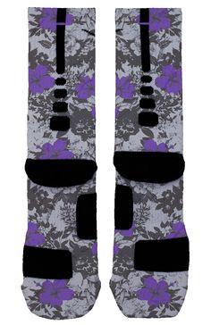 Purple Floral Custom Nike Elites