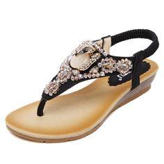 Luxury Rhinestone Women Sandals New 2017 Summer Women Shoes Fashion Casual Female Beach Shoes Ladies Sandalias Mujer SNE-453