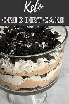 Low Carb Sweets, Low Carb Desserts, Healthy Desserts, Delicious Desserts, Dessert Recipes, Healthy Eats, Recipes Dinner, Dinner Ideas, Oreo Dirt Cake