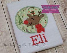 Reindeer Rudolf Applique Design  by JustSewSweetlyDesign on Etsy, $3.99