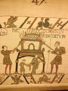 1000 images about bayeux tapestry of normandy on pinterest tapestries william the conqueror - Point p bayeux ...