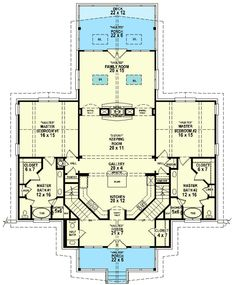 Dual Master Suite   Need To Change Entry Though. Unique House Plans ...