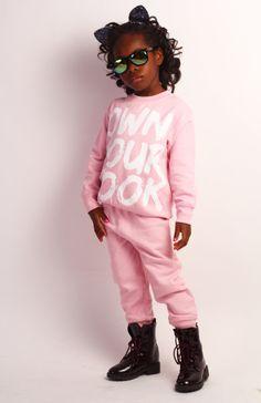 "Kids ""Own Your Look"" Pink Sweatsuit"