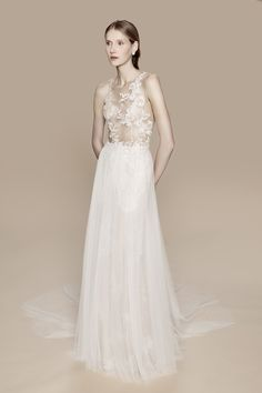 White Embroidered Dress - romantic couture fashion // Marchesa