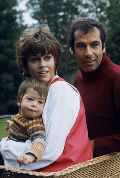 Vanessa Vadim - Jane Fonda and Roger Vadim with their daughter Vanessa