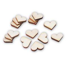 50 kleine Herzen aus Holz zum Basteln oder Dekorieren // Diese kleinen, niedlichen Herzen eignen sich fantastisch als Streudeko, zum Verzieren von tollen Bastelarbeiten, zum Bekleben von kleinen Geschenken u.v.m.. Lassen Sie Ihrer Fantasie freien Lauf! Ein Herz ist ungefähr so groß wie ein 2 Cent Stück.