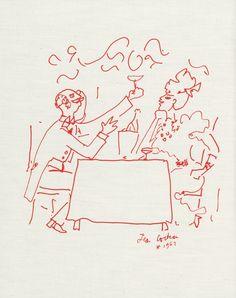 Jean cocteau dessin jean cocteau pinterest paris for Cuisinier raymond oliver