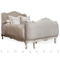 Sophia King Bed in Antique White | guest or master