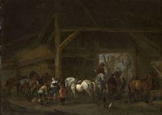 Philips Wouwerman - Een paardenstal