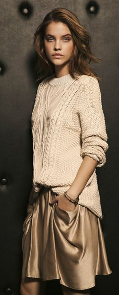 Massimo Dutti outfit - great mix of textures + beautiful palette