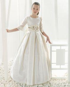 99105 vestido de comunión corte evasé                                                                                                                                                      Plus