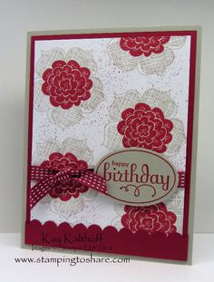 Stamping to Share: 7/26 Stampin' Up! Raining Flowers