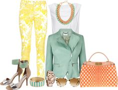"""""""A mix of prints and color."""" by kerisrunway ❤ liked on Polyvore"""