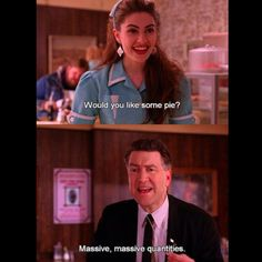 Twin peaks -- so hilarious!