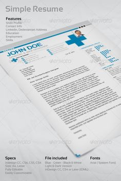 Standard Resume Font Simple Resume  Simple Resume Letter Size And A4