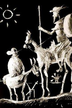 """""""Quixote morre ao fim da narrativa, pois não se pode enlouquecer duas vezes"""" - disse Saramago sobre o cavaleiro, em discurso em que afirmou ser Quixote o personagem mais completo de toda a Literatura."""