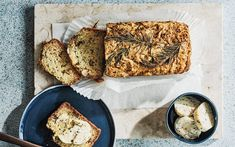 Courgette, walnut and rosemary bread with honey butter recipe Bread Without Yeast, Rosemary Bread, Bread Substitute, Veggie Dinner, Honey Butter, Butter Recipe, Fruit And Veg, Daily Bread, Cooking Time