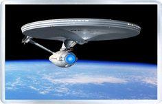 Star Trek Enterprise . Fridge Magnet in acrylic. Size (Approx): 3 x 2 inches (8 x 5 cm). FREE POSTAGE