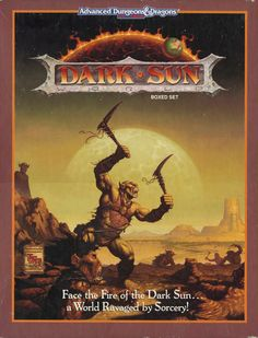 Dark Sun Boxed Set - my all time favourite setting for AD I loved this box. Everything about it. The Brom and Baxa art. The character tree. Even the fact everyone had psionics. To me this was D finally done fun!