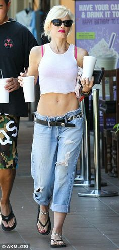I wanna look like Gwen Stefani when I'm 43! Badass.