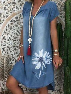 Denim Midi Dress, Womens Denim Dress, Denim Dresses, Denim Summer Dresses, Dresses Dresses, 1950s Dresses, Party Dresses, Lace Dress, Best Casual Dresses