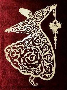 Arabic Calligraphy Art, Arabic Art, Arabesque, Dance Paintings, Islamic Patterns, Turkish Art, Foil Art, Ornaments Design, Scroll Saw Patterns