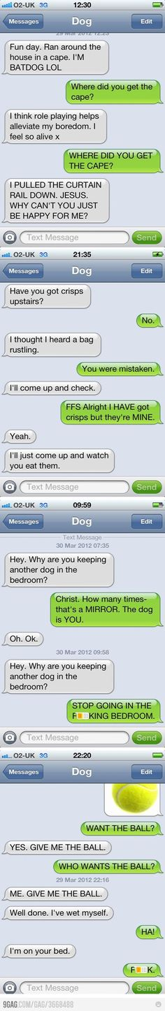 Text message from a dog @Melissa Guillermo