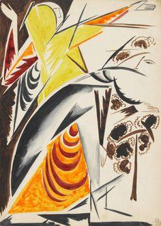 Natalia Goncharova, Spanish Dancer, c.1914, watercolour and pencil on paper, 35 x 25 cm, MoMA, New York.