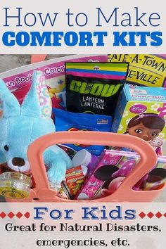 I need to include this as part of my emergency preparedness! During any time of crisis, a comfort kit for my kids could be invaluable! (Kids DIY, projects, activities)#DoubletheBatch