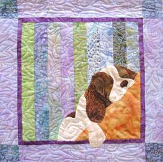 Spaniel quilt pattern by Karen Brow at Java House Quilts