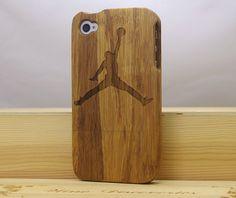 JordanNatural Wooden Cases Cassette Tape iPhone 5s by uuu888uuu