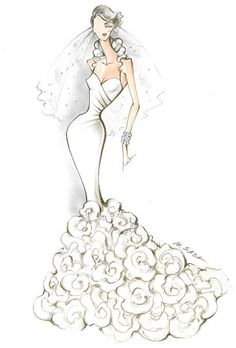 Wedding dress sketch #sketches #bocetos #novias: Fashion Designs, Fashion…