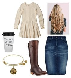 """""""warmth"""" by make-my-modest-closet on Polyvore featuring Hollister Co., Armani Jeans and Timberland"""