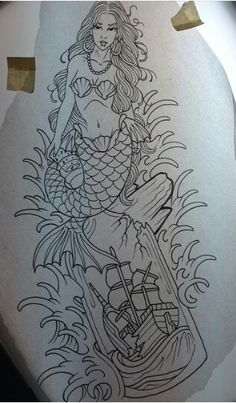 YESSS!!! mermaid with a ship in a bottle? Just what i am looking for!!!!