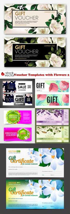 Gift voucher template with colorful pattern,cute gift voucher - coupons design templates